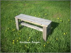 Weathered White Cedar Rustic Bench Kit Bench by NorthernBoughs, $55.00