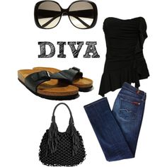 """Black"" by sandrapereiranielsen on Polyvore"