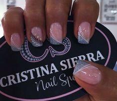 #untitled Crazy Nail Designs, French Nail Designs, Colorful Nail Designs, French Nails, French Acrylic Nails, Cute Simple Nails, Pretty Nails, Purple And Pink Nails, Ambre Nails