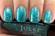 Julep Harper Full-coverage opalescent mermaid blue multi-dimensional glitter