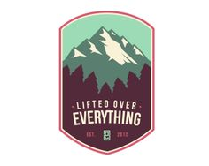 Lifted Over Everything Logo Inspiration Gallery | More logos http://blog.logoswish.com/category/logo-inspiration-gallery/ #logo #design #inspiration