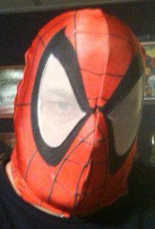 Spider-Man Dye Sublimated mask on Etsy, $50.00