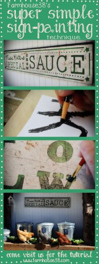 See our trick for making hand-painted signs