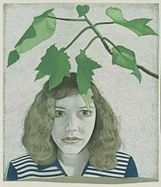 Lucien Freud, Girl with Leaves