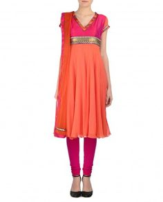 Monarch Orange Suit with Pink Yoke
