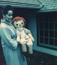 Lorraine Warren with the actual Annabel doll #paranormal #dolls