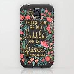 Little & Fierce on Charcoal iPhone & iPod Case