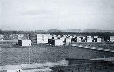 Škola a rodinné domky v Baťově – 1936