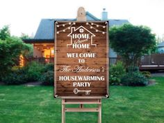 Housewarming Party Welcome Sign - New Home Party Welcome Banner - Rustic Welcome Sign ; Welcome Banner, Welcome To The Party, Welcome Decor, Small Balcony Garden, Bridal Shower Signs, Beautiful Posters, Housewarming Party, Banner Printing, Holiday Themes