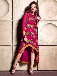 Loveliness Magenta Readymade Stylish Kurti. #DesignerKurti #ReadymadeKurti #StylishKurti #CasualKurti #PartywearKurti
