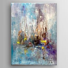 mano la pintura abstracta pintura al óleo pintada con estirado enmarcado listo para colgar 2016 - $59.99