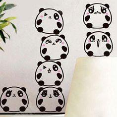 Cute Cartoon Panda Switch Sticker Socket Paster Wall Poster