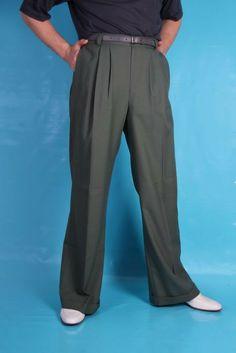 1940s Style Mens Anzac Trousers - Khaki