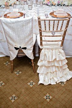 chivari chair covers- super cute bride and groom idea!