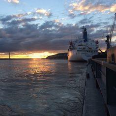 """#Tancarville #Pont #Navire #binnenvaart #Seine  #Marée"""