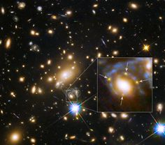 3/9/15: Galaxy and Cluster Create Four Images of Distant Supernova  http://apod.nasa.gov/apod/ap150309.html