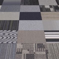 "20 Carpet Tiles 19 7"" x 19 7"" Flor Design Coordinates Shades of Grey 