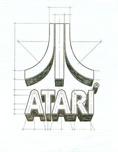 """Fuji"" Atari symbol schematic by George Opperman - 1972"