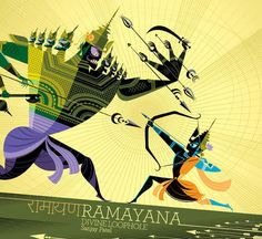 The cover of Ramayana: Divine Loophole shows Prince Rama squaring off against the demon king Ravana.