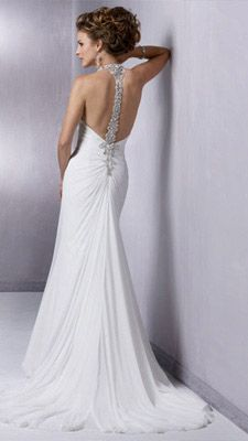 Donnas wedding - open back wedding dress