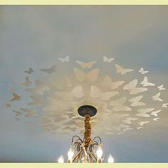 butterfly medallion stencil - so pretty and soft if done in a pearl glaze