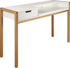 For deg som ønsker et diskret og praktisk skrivebord. Med sitt elegante og naturlige design passer Farringdon så vel i stua som på kontoret.Den uttrekkbare topplaten gjør at du får en fullverdig kontorpult ved behov. Hull bak for å skjule ledninger.