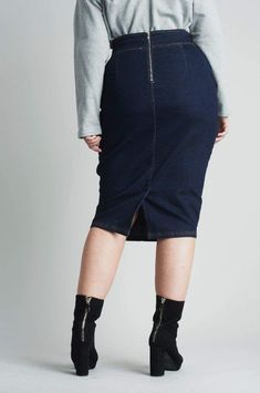 CoEdition - Denim Skirt With Buckles Big Night Out, Fashion Advice, Denim Skirt, High Waisted Skirt, Lost, Ink, Navy, Casual, Skirts