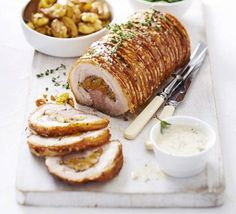 Rolled pork belly with herby apricot and honey – hello Sunday lunch