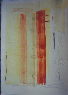 acrilica,c/colagem de aquarela