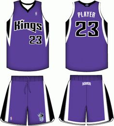 Sacramento Kings Road Uniform 2009-2014