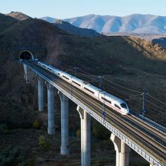 AVE Series 103, Spain Barcelona to Madrid in 2.5 hours. World's Fastest Trains - Articles | Travel + Leisure