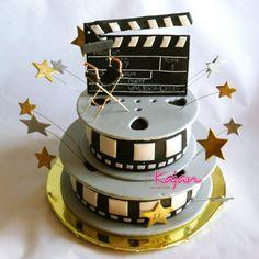 Torta Hollywood Estrellas - Cine - Claqueta