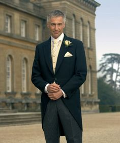apparently morning suits are traditional attire for the wedding party here in the UK -- Dan and his best man will be in Naval Uniforms....but need something for the father of the bride -- thoughts?