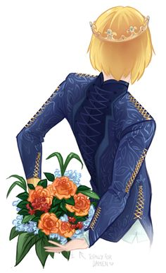 Wanted to doodle a pretty Laurent, the bouquet just kinda appeared… yeah that's it. xD. I've wanted to draw complex Veretian clothing for a loooong time now, and it looks so wonderful~ BUT TAKES FOREVER TO COLOUR OMG…