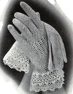 Crochet Gloves with Irish Cuffs Pattern #284