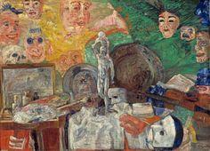 James Sidney Ensor: Stillleben im Atelier, 1889. © Bayerische Staatsgemäldesammlungen, Neue Pinakothek München