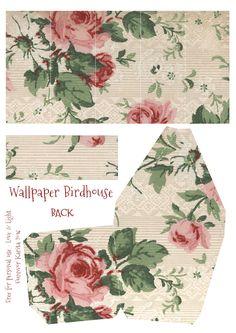 Wings of Whimsy: Wallpaper Birdhouse No 5 Back #vintage #ephemera #freebie…