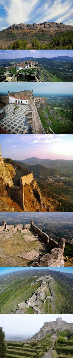 #Marvao castle and walls Village on the top of the Mountain  #Alentejo #Portugal