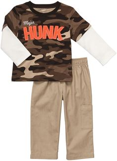 Amazon.com: Carter's Baby Boy's Infant Two Piece Pant Set - Major Hunk: Infant And Toddler Pants Clothing Sets: Clothing