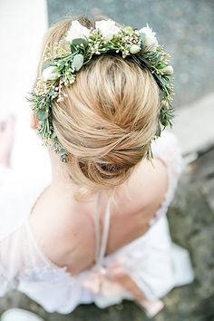 Rosemary and rose flower crown - romantic vintage wedding inspiration // Mademoiselle Fee // The Natural Wedding Company Wedding Hair, Diy Wedding, Wedding Venues, Wedding Ideas, Spring Wedding Decorations, Spring Wedding Colors, Spring Wedding Invitations, Spring Wedding Flowers, Wedding Company