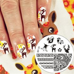 BORN PRETTY Lovely Animals Pattern Nail Art Stamp Template Image Plate BP-35 Nail Stamping Template