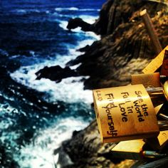Beautiful reminder on a lovelock in Manorola in Cinque Terre, Italy #italy #travel #love #beach
