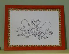 Octopi in love by SarahAtlasDesigns on Etsy, $30.00
