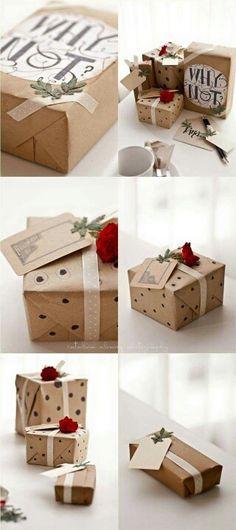 Originelle Idee zum verpacken von Geschenken