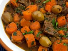 Libyan Lamb Stew with Carrots & Green Olives