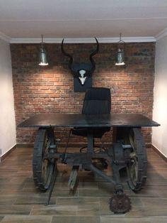 New desk for my office on the farm. #masseyharris #limestone