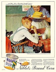 1945 ... 'Corn'- Norman Rockwell by x-ray delta one, via Flickr