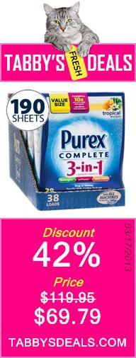 Purex Complete 3 in 1 Tropical Escape Scent (Big Value 190 Sheets) $69.79
