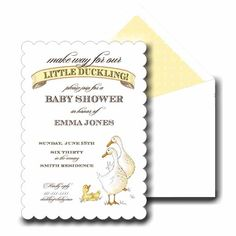 Make Way for our Little Duckling! Baby Shower Invitations
