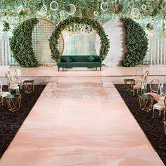 "Gold colour circle wedding arch 83"" - round metal backdrop, Wedding Backdrop Design, Wedding Stage Design, Wedding Hall Decorations, Wedding Reception Backdrop, Marriage Decoration, Engagement Decorations, Backdrop Decorations, Backdrops, Marie"